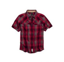 Men's #1 Skull Plaid Shirt