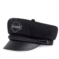 Men's Bar & Shield Logo Biker Cap