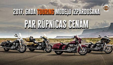 2017. gada Touring motocikli par rūpnīcas cenām