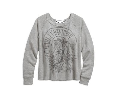 PULLOVER-LACE NECK,GREY
