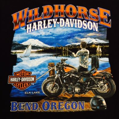 WILDHORSE H-D ELK LAKE T-SHIRT BACK