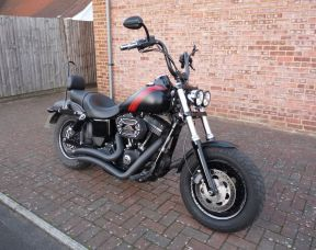 2015 FXDF Dyna Fat Bob 65 plate Full Stage One, Fat Ape Handlebars