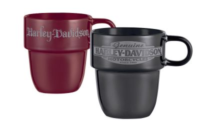 Zestaw dwóch ceramicznych kubków Harley-Davidson