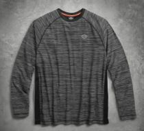PULLOVER-PERF MESH PANEL,BLK