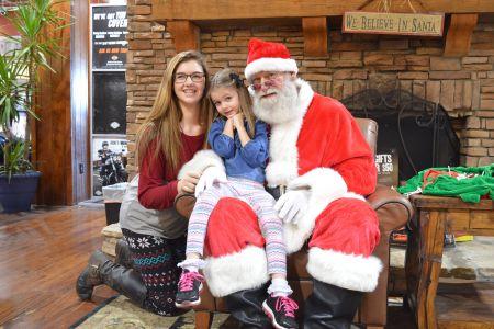 Bring the kids in to see Santa