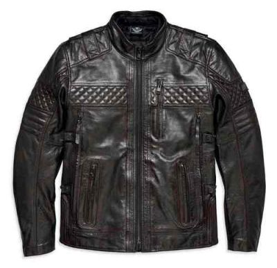 H-D TRIPLE VENT SYSTEM IRONSTONE LEATHER JACKET