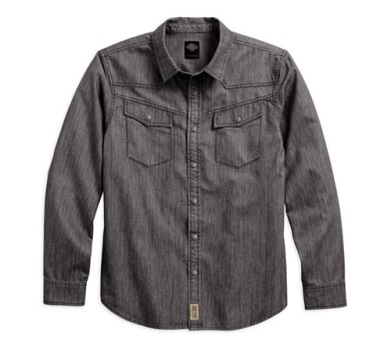 GRAY DENIM SHIRT