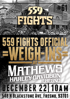 BIKE NIGHT AT 559 FIGHTS - 10AM WEIGH-INS