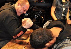 Soirée des 30 ans de la concession ATS Harley-Davidson Paris Bastille. Avec Sailor Jerry.