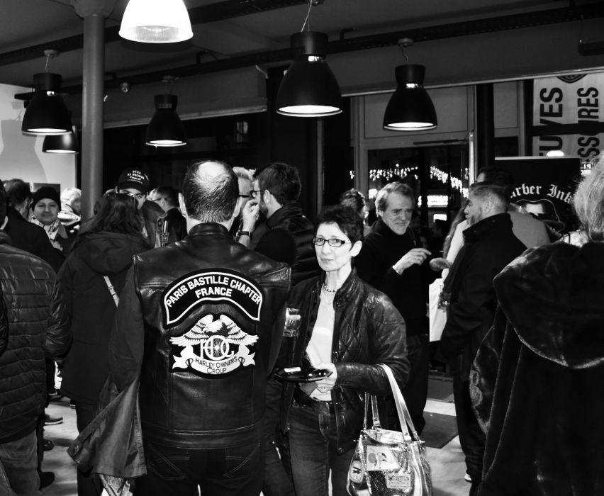 Le chapter de la concession Harley-Davidson Paris Bastille lors de la soirée des 30 ans.