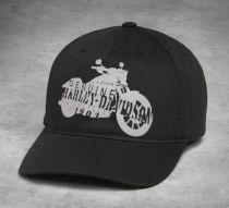 CAP-MOTORCYCLE,SILHOUETTE,BLK