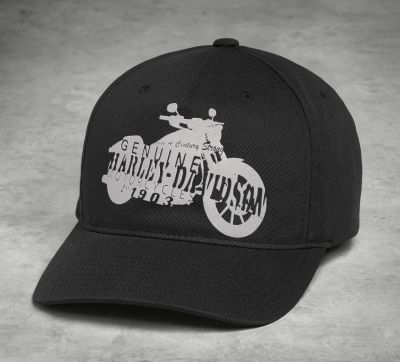 CAP-MOTORCYCLE,SILHOUETTE,BLK