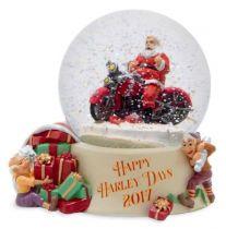 Harley-Davidson® 2017 Seasonal Biker Santa Snow Globe,