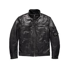 JACKET-LEA,AUTHORITY,W/P,BLK