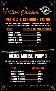FESTIVE SEASON MERCHANDISE & PARTS + ACCESSORIES PROMO