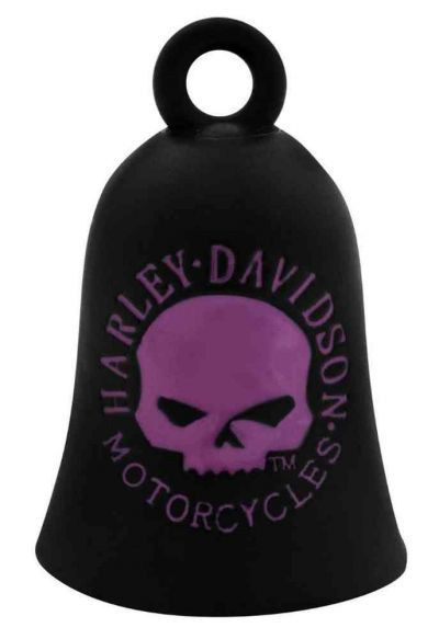 BLACK & PINK WILLIE G SKULL RIDE BELL