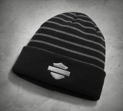 ΚΑΠΕΛΟ - HAT-KNIT,STRIPED,2IN1,BLK