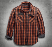 Men's Oak Leaf Plaid Slim Fit Shirt