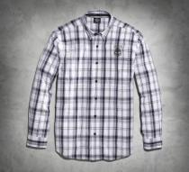 Men's Skull Shield Plaid Shirt