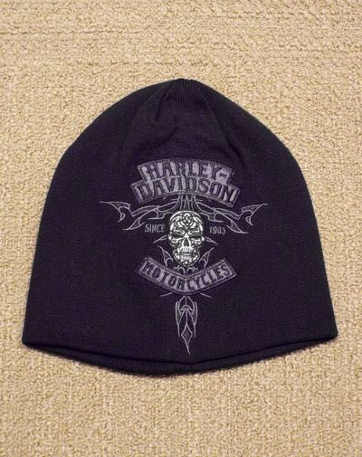 HAT-KNIT,SKULL,BLK