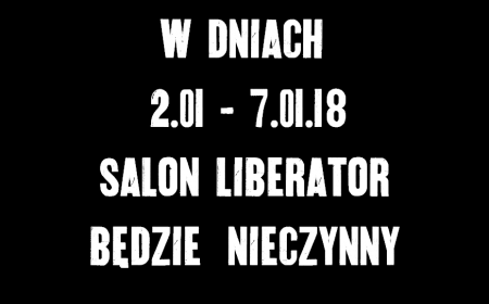 W DNIACH 2-7.01.18 SALON NIECZYNNY