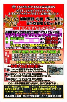 2018年1月の苫小牧初売り!!
