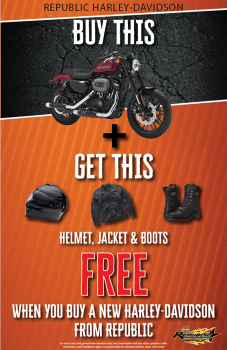 Buy A New Republic Harley Davidson Motorcycle!