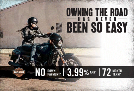 HARLEY-DAVIDSON STREET® FINANCE PROMOTION