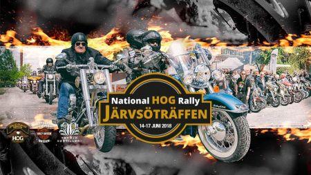 JÄRVSÖ TRÄFFEN  NATIONAL HOG RALLY   14-17 JUNI 2018