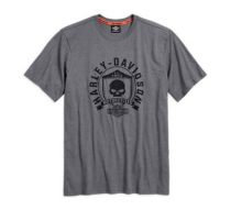 T-krekls SKULL SHIELD, pelēks