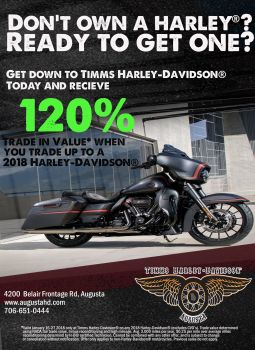 Get up to 120% value for your Non-Harley Trade!