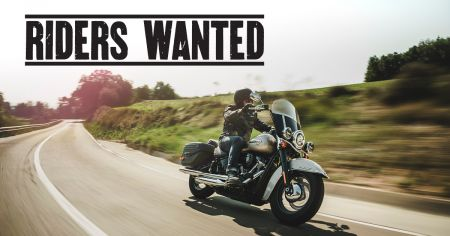 RIDERS WANTED - TAKE A TEST RIDE AND WIN!