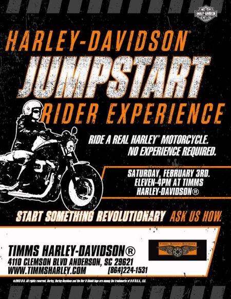 Jumpstart Day Timms Harley Davidson