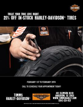 20% OFF IN-STOCK HD® TIRES