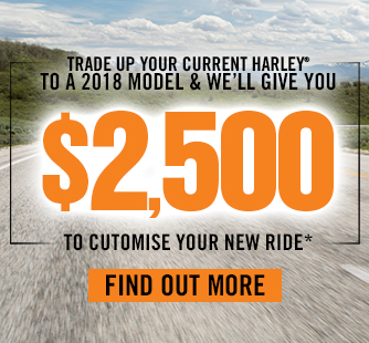 Trade up to a MY18 & we'll add up to $2,500 of P&A!