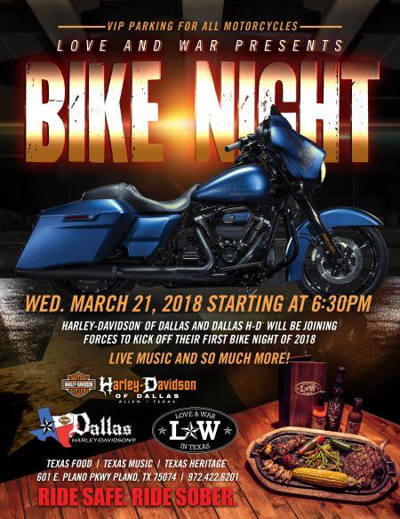 2018 Bike Night at  Love & War in Texas