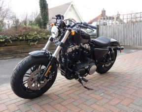NEW 2018 XL1200X Sportster Forty-Eight, Vivid Black Unregistered