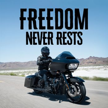 Freedom never rests