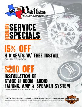 February Service & Parts Special