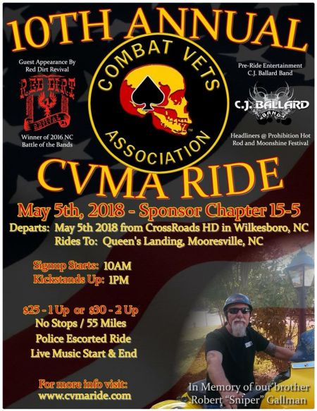 10th Annual CVMA15-5 Benefit Ride