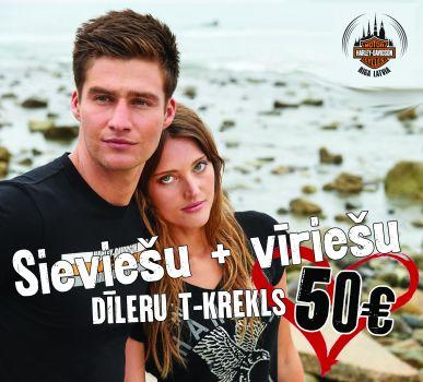 Sieviešu + Vīriešu T-Krekls tikai par 50 eur