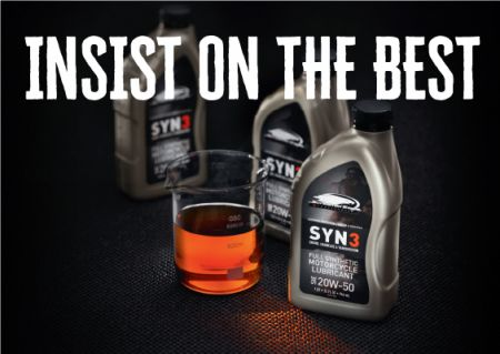 SYN3® full Synthetic Motorcycle Lubricant