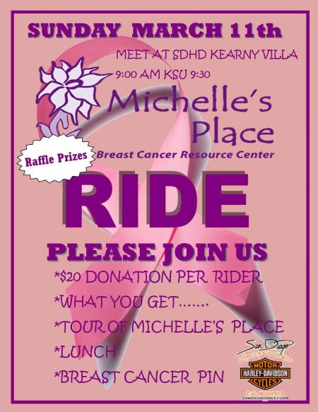 Breast Cancer Ride to Michelle's Place
