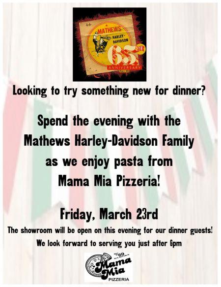 Friday Night Dinner @ Mathews H-D