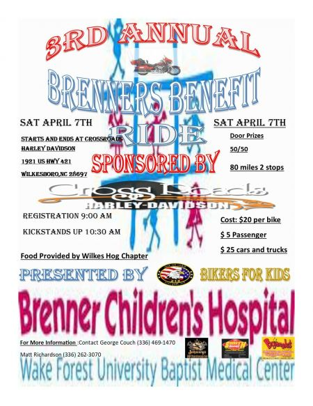 3rd Annual Brenner Children's Benefit Ride