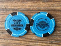 LtBlue/Black Poker Chip