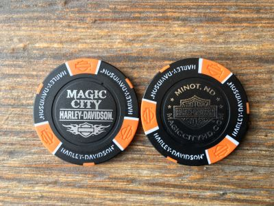 Black/Orange Poker Chip