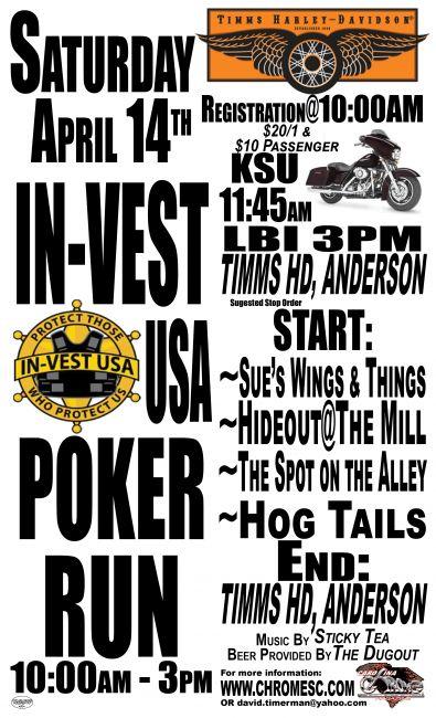 In Vest Usa Poker Run Timms Harley Davidson