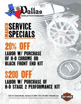 March Service Specials