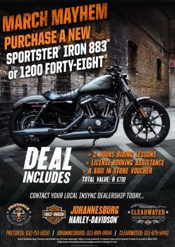 NEW Sportster Iron 883 & 1200 Forty-Eight March Deal